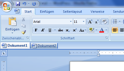OfficeTab in Word 2007