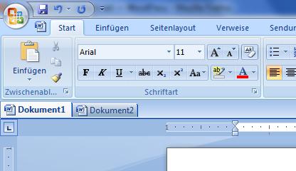 OfficeTab in Word 2007