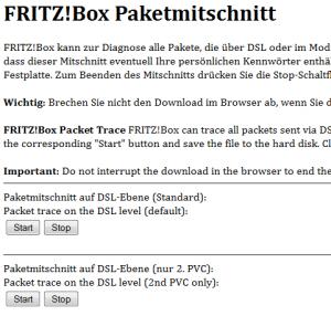 FritzBox Paketmitschnitt